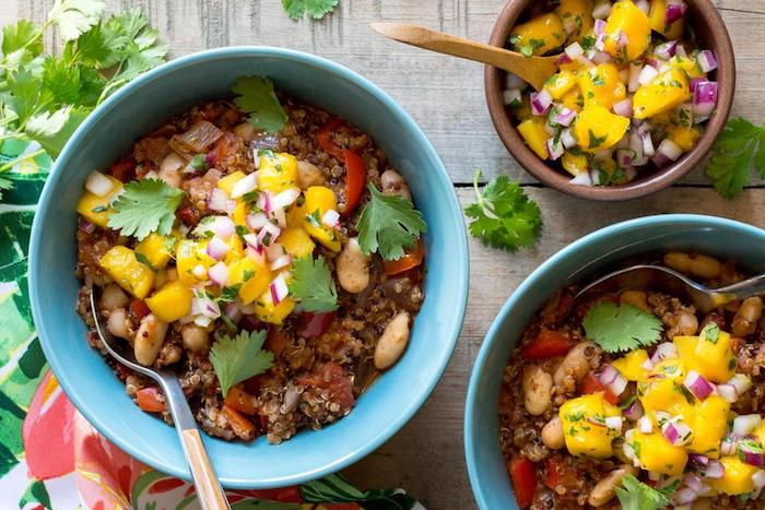 Vegan Jamaican Jerk Chili with Mango Salsa!