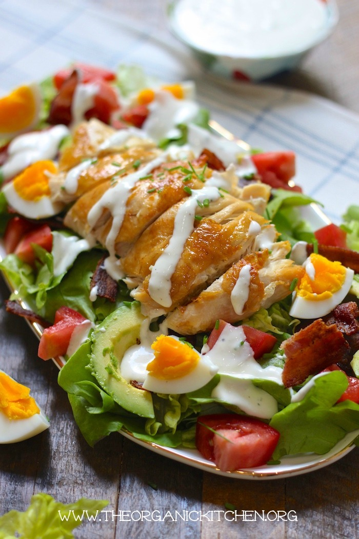 The Chicken Club Salad with Ranch! (Paleo/Whole30/Keto) #chickenclubsalad #whole30salad #paleosalad #ketosalad #glutenfree