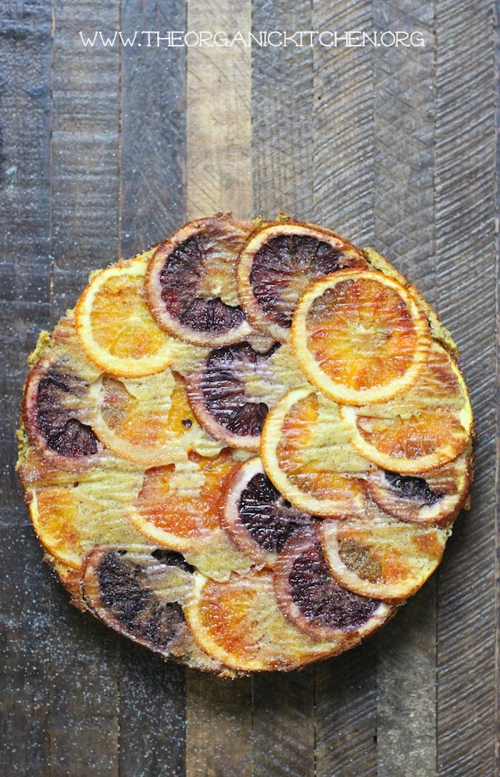 Upside Down Orange Almond Cake #orangealmondcake #bloodoranges #grainfree #dairyfree #lowcarb