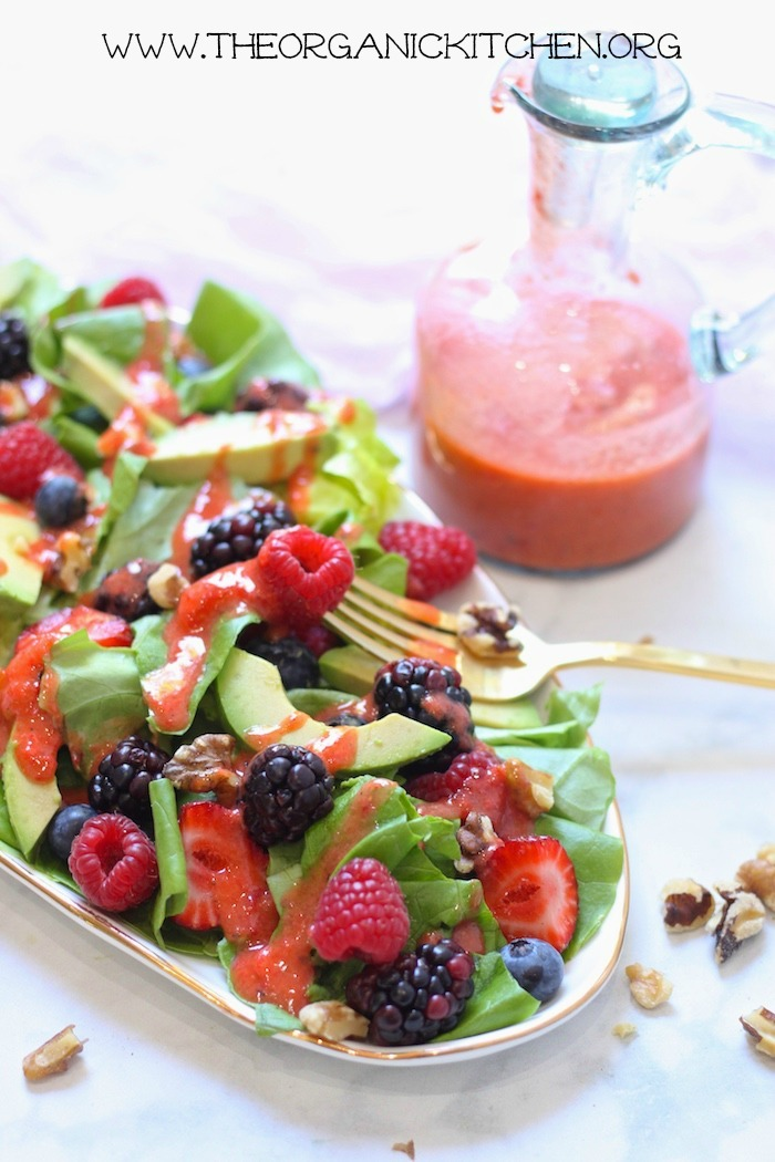 Mixed Berry Salad with Strawberry Vinaigrette (Paleo-Whole30)