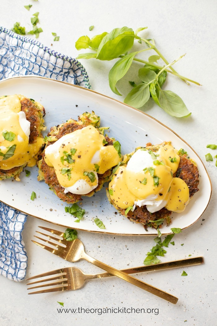 Farmhouse Zucchini Eggs Benedict! (Paleo-Whole30 option) #eggsbenedict #whole30eggsbenedict #paleo #whole30 #whole30breakfast
