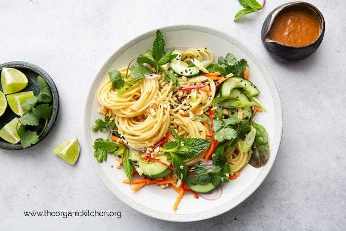 Spring Roll Spaghetti Bowl (with Grain Free Option!)