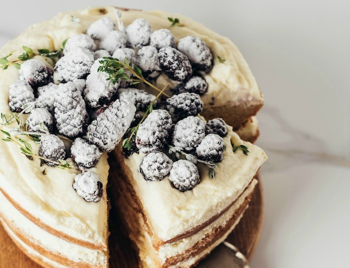 Lemon Layer Cake with Blackberries!