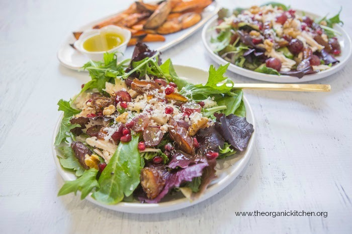 Chicken and Grape Salad with Roasted Sweet Potatoes