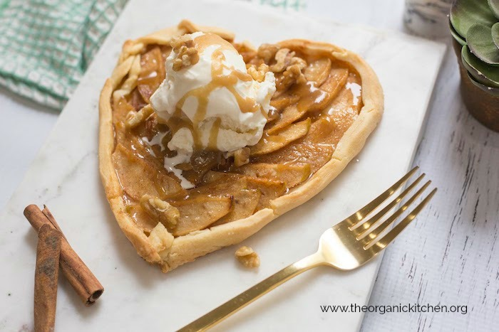 Apple Tart a la Mode with Easy Caramel Sauce!