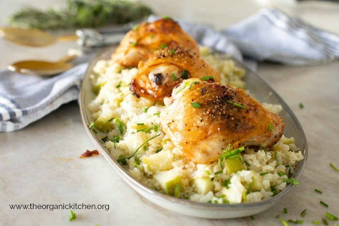 Herbed Chicken with Apple Cauliflower Rice! Paleo-Whole30-Low Carb