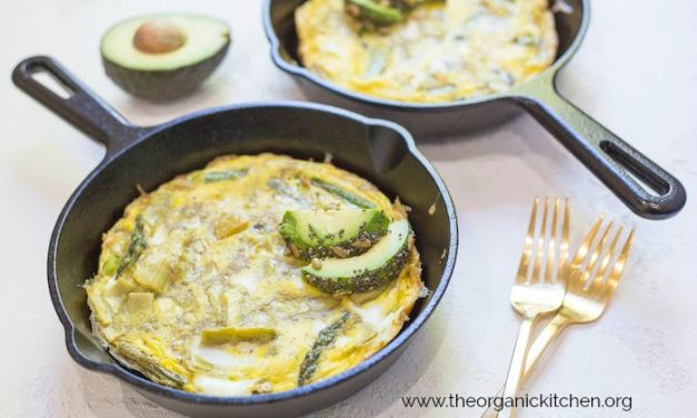 SPRING FRITTATA WITH SEEDED AVOCADO!
