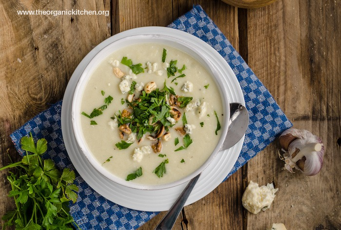 Roasted Cauliflower Soup (Dairy Free and Whole30 options)