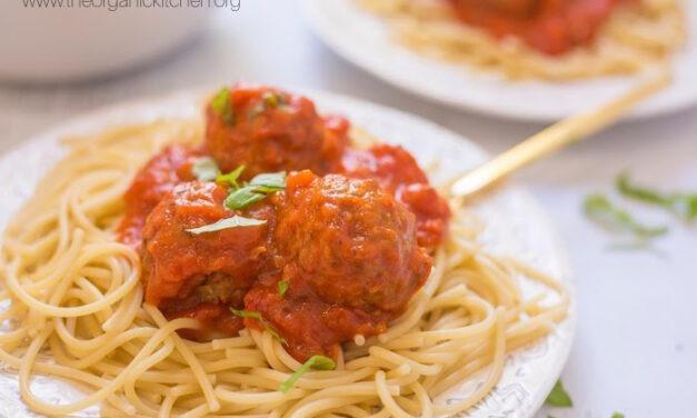 Spaghetti with Homemade Meatballs