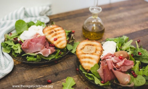 Grilled Pear and Prosciutto Salad