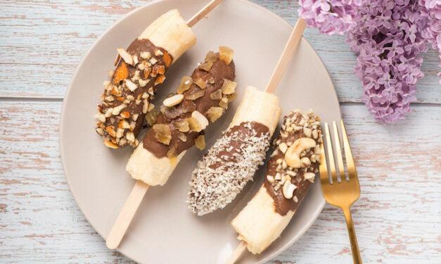 Chocolate Dipped Frozen Bananas