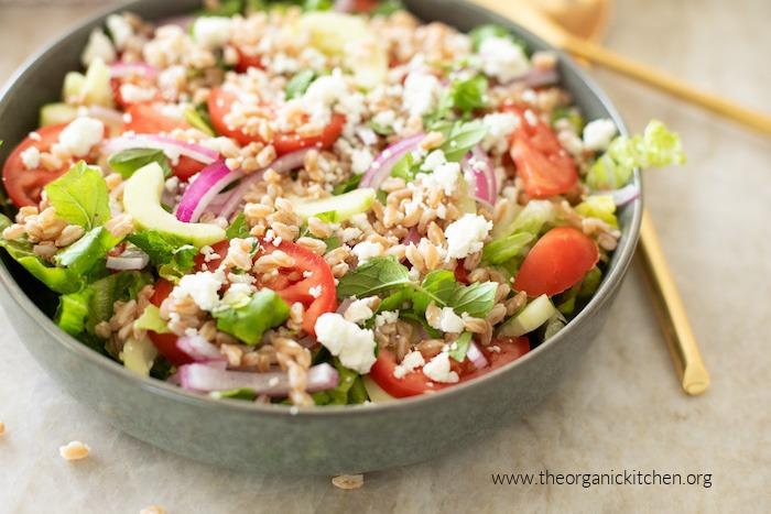 Chopped Greek Salad with Farro
