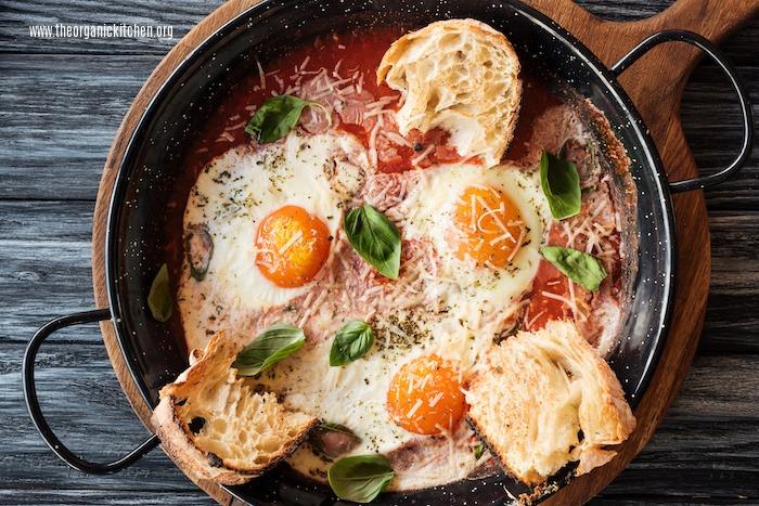 Poached Eggs in Marinara Sauce