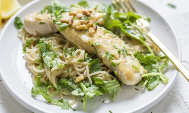 Easy Chicken Piccata with Baby Arugula